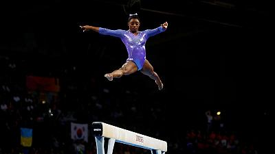 American Biles wins record 24th medal at worlds