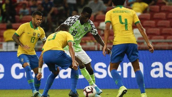 Brasile-Nigeria 1-1, Neymar infortunato
