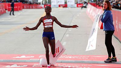 Fresh off world record run, Kosgei thinks women can go even faster