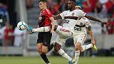 Flamengo win again to stay top in Brazil