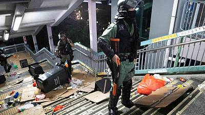 Hong Kong violence is 'life-threatening', say police, citing crude bomb