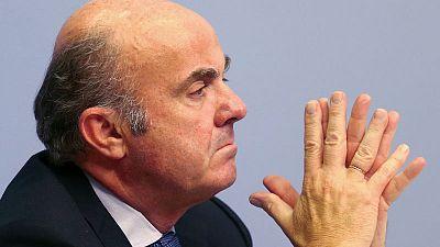 Low valuations hamper euro zone bank mergers - ECB's de Guindos