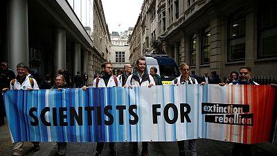 Climate change activists target BlackRock in London