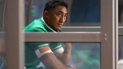 Ireland's Aki to miss rest of World Cup as red card is upheld