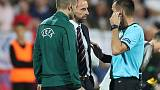 Referee temporarily halts play after racist chants in Bulgaria-England game