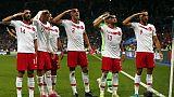 Euro 2020:turchi rifanno saluto militare