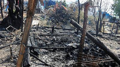 Second Greek migrant camp in flames as arrivals continue to rise