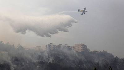 Lebanon deploys water cannon, helicopters to fight wildfires across country