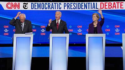 Warren comes under attack on healthcare, taxes at U.S. Democratic presidential debate