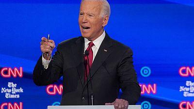 Democratic front-runner Biden has less campaign cash than top rivals
