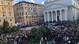 Sparatoria Questura: funerali, folla