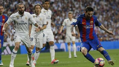 Liga 'Clasico Barcellona-Real a Madrid'