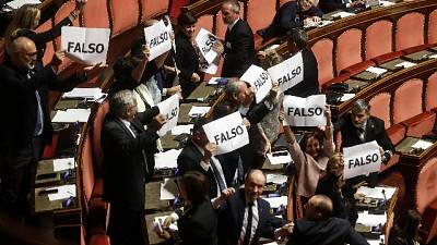 Dazi: protesta Lega al Senato