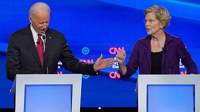 U.S. Democrats back on 2020 campaign trail after debate attacks on Warren