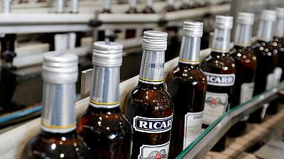 Pernod Ricard first-quarter sales growth slows as China and India decelerate