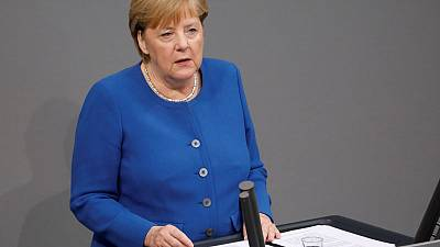 I've urged Turkey to end its operation in northern Syria, Merkel says