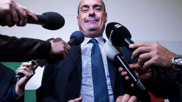Zingaretti, accordo su carcere a evasori