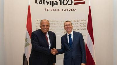 Latvia Hosts First Official Visit of an Egyptian Foreign Minister
