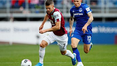 Burnley's Gudmundsson faces weeks out with hamstring issue