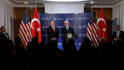 Pence says Turkey, U.S. agree ceasefire in northeast Syria