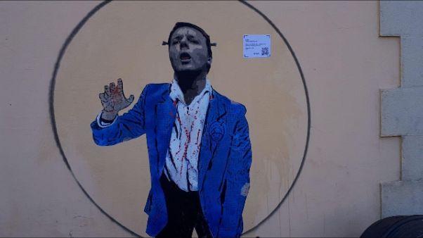 A Firenze murales su Renzi