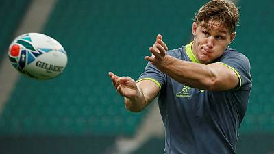 Wallabies want strong start but nothing won at halftime, says Hooper