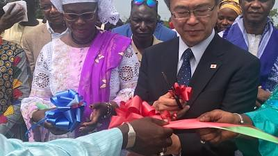The Ceremony of Handing Over of Agricultural Equipment within the Framework of the Japanese Programme « Support to Underpriviledged Gambian Farmers » to the Gambia