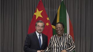 Wang Yi and South African International Relations and Cooperation Minister Naledi Pandor hold talks