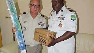 Don de matériel à la Marine gabonaise dans le cadre de l'exercice Grand African NEMO