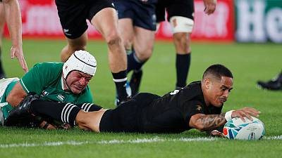 All Blacks batter Ireland 46-14 to reach World Cup semis