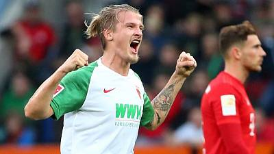 Augsburg's Finnbogason nets stoppage-time equaliser to shock Bayern