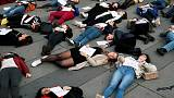 Women gather in Paris to protest against deadly domestic violence