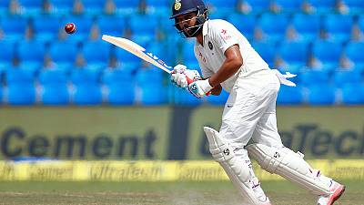 Rohit hits maiden double ton as India declare on 497-9