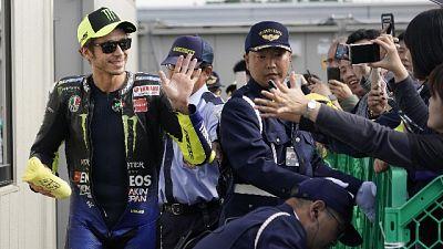 Rossi, a parte caduta gara molto dura