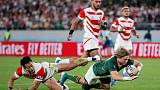 South African power ends Japan's fairytale run