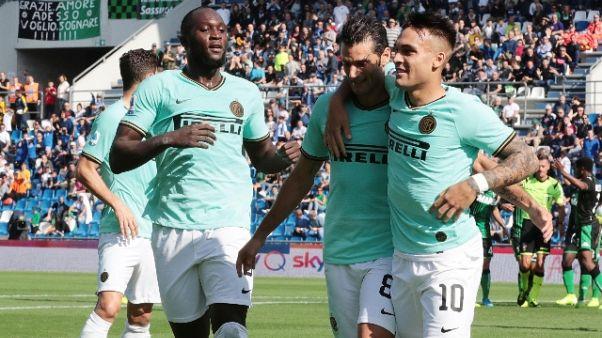 Serie A: Sassuolo-Inter 3-4