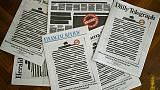 Australian newspapers redact front pages to protest media curbs