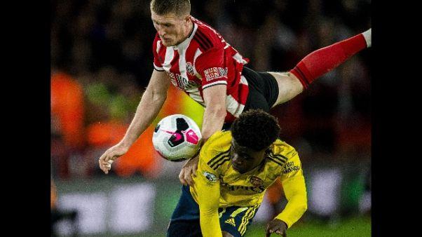 Premier: Arsenal ko contro lo Sheffield