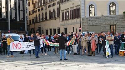 Discarica di Piombino,protesta a Firenze