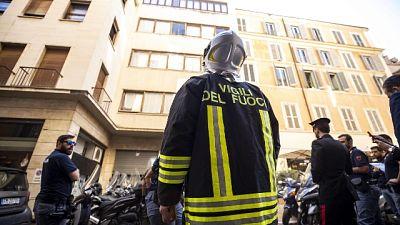Incendio in sede Ordine giornalisti Roma