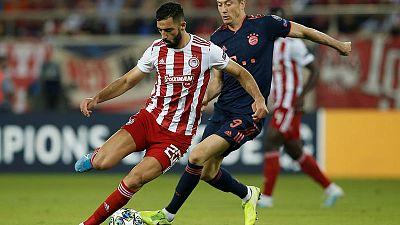 Lewandowski goals help Bayern 3-2 past Olympiakos