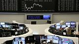 Tech slide drags European shares lower as Brexit delay looms