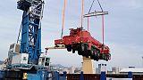 Ponte Genova,giunte da Olanda 3 mega gru