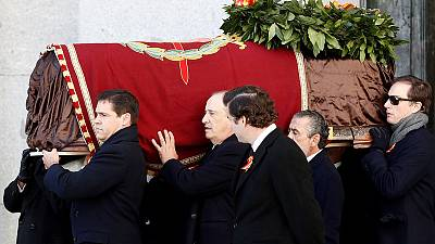 Behind closed doors, Spain exhumes Franco's remains
