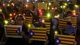 Hong Kong pro-democracy protesters rally for Catalan separatists