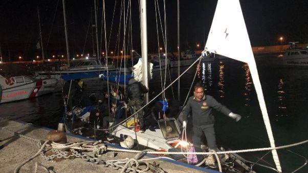 Veliero con 46 migranti in Calabria