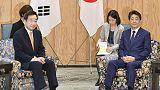 Japan's Abe tells South Korea's Lee cooperation is key on North Korea