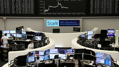 Auto stocks drive European shares higher, as PMI data, ECB eyed