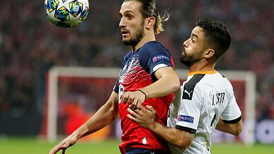 Ikone's late goal gives Lille 1-1 draw with Valencia