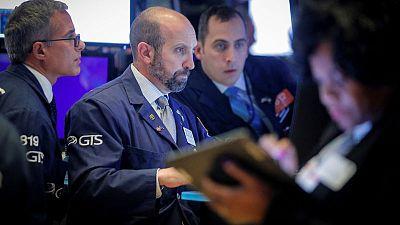 Global stocks climb on trade talk, earnings news; sterling slips